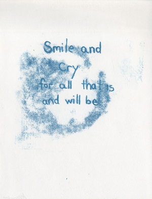 Monoprint: Smile and cry